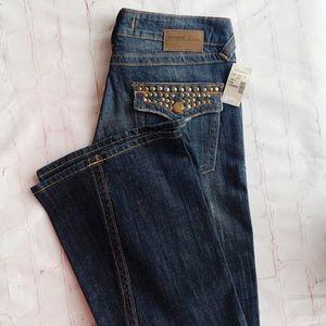 [Vigoss premium] NWT studded twisted flare jean 7